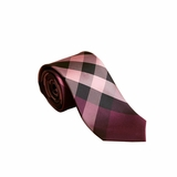 Burberry Modern cut check silk necktie - Rose Pink