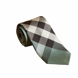 Burberry Modern cut check silk necktie - Sea Green