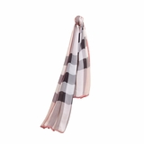 Burberry Ombre Check Silk Scarf - Ash Rose
