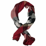 Burberry Oversized Silk Stole Beige Scarf/Wrap - Red
