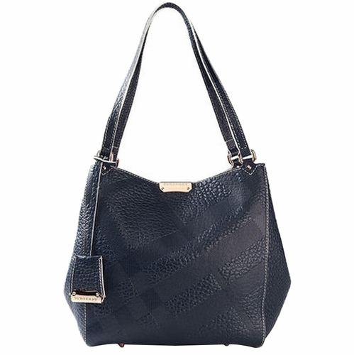 3a487ad81a74 Authentic Burberry Small Canter In Bonded Leather Tote Bag - Black at  Modaqueen.com