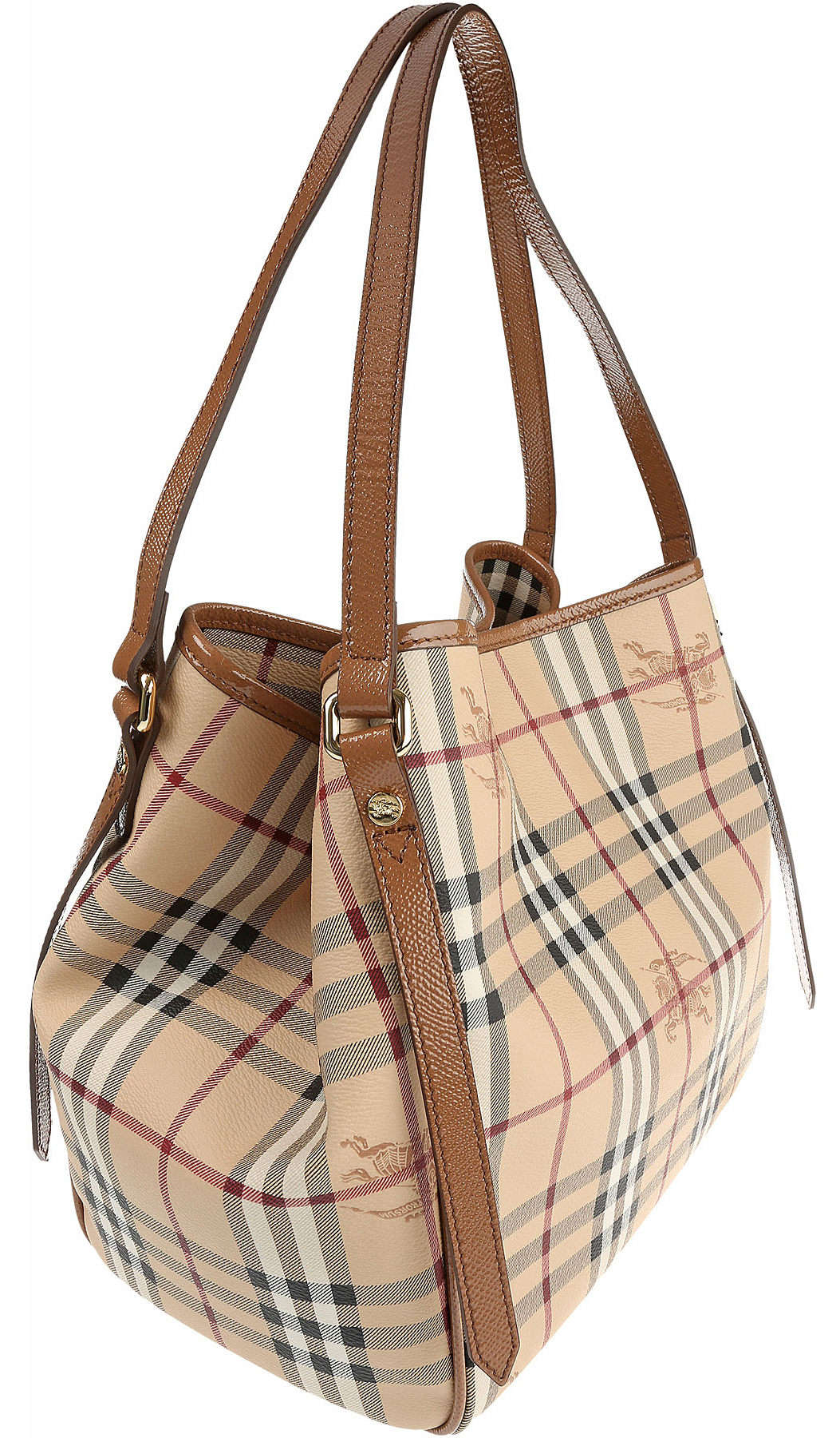 Authentic Burberry Small Haymarket Canterbury Tote 3908601