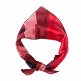 Burberry Women Silk Check Scarf Poppy Check - Red