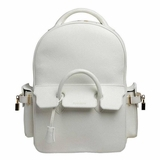 Buscemi Medium Phd Leather Backpack - White