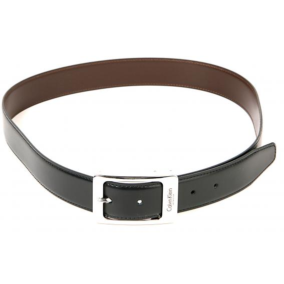 authentic calvin klein italian leather belt ck106 black