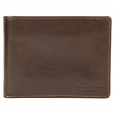 Calvin Klein Italian Leather Bifold Wallet Brown