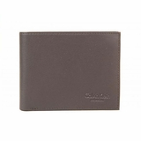 Calvin Klein Italian Leather Bifold Wallet Dark Brown