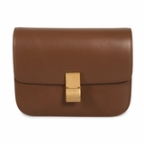 Celine Classic Box Leather Shoulder Bag - Brown