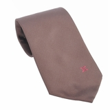 Celine Logo Silk Tie - Brown