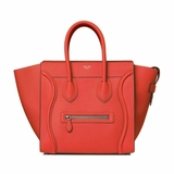 Celine Mini Luggage Handbag - Red