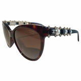 Channel Polarized Pearl Sunglasses limited - Black/Brown