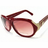 Chloe 2126 CO4 Burgundy Gold Sunglasses - Red