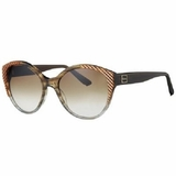 Chloe 2247 C02 Striped Gradient Sunglasses - Brown