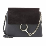 Chloe Leather Faye Shoulder Bag - Black