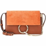 Chloe Leather Faye Shoulder Bag - Brown