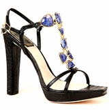 Christian Dior 'Piedra' Leather Sandals - Black