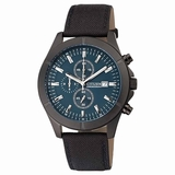 Citizen Men Chronograph AN3525-01L Blue Dial Quartz Watch - Black