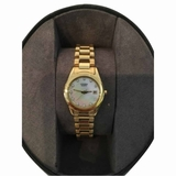 Citizen Mother Of Pearl Swarovski Watch - Gold