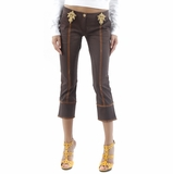 Class Roberto Cavalli Cotton Capri Pants - Brown