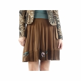 Class Roberto Cavalli Silk Skirt - Brown