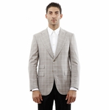 Corneliani 2 Button Extra Fine Wool Blazer Sport Coat Jacket - Beige