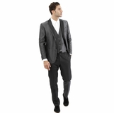 Corneliani 3-Piece Suit - Metallic Gray