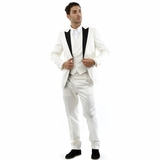 Corneliani 3-Piece Suit - Pearl White