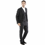 Corneliani 3-Piece Suit - Shiny Black