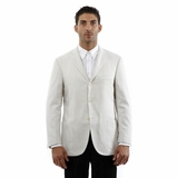 Corneliani Blazer Stripe Silk Cotton Jacket - Beige