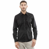 Corneliani CC Ruffle Cotton Shirt - Black