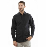 Corneliani CC Shirt - Black shiny/Black Stripe