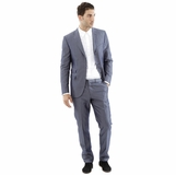 Corneliani Stripe Cotton Silk Suit - Blue Gray