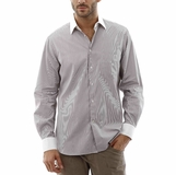 Corneliani Stripe Shirt - White Gray