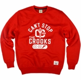 Crooks & Castles C1310103 Mens Torch Crewneck Sweatshirt - Red