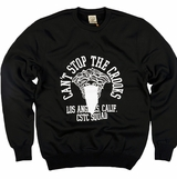 Crooks & Castles C1310113 Mens Team Bandito Crewneck Sweatshirt - Black
