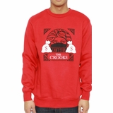 Crooks & Castles C1310116 Mens Cathedral Crewneck Sweatshirt - Red