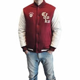 Crooks & Castles Mens Stadium Jacket - Burgandy