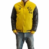 Crooks & Castles Mens Stadium Jacket - Yellow
