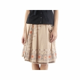 Diesel Cotton Knee Length Skirt - Beige