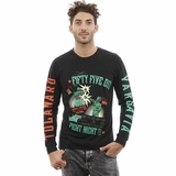 Diesel Long Sleeve Cotton Black Green Red T-Shirt