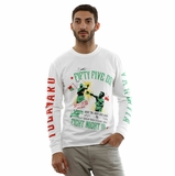 Diesel Long Sleeve White Green Red T-Shirt