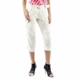 Diesel Silk Capri Pants - Cream