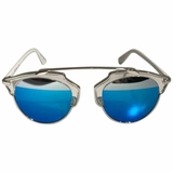 Dior So Real Split Sunglasses - White/Blue