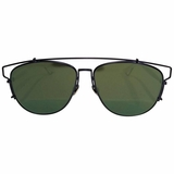 Dior White Mirrored Technologic Sunglasses - Black/Green