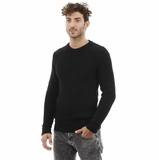 Dolce and Gabbana Black Cotton Sweater