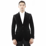 Dolce and Gabbana Blazer Black Cotton Jacket