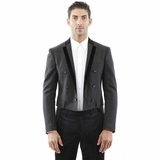 Dolce and Gabbana Blazer Dark Gray Cotton Jacket