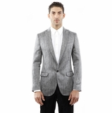 Dolce and Gabbana Blazer Gray Cotton Jacket