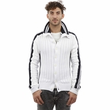 Dolce and Gabbana Cardigan White Black Trim Cotton
