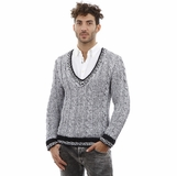 Dolce and Gabbana Knitted V-Neck Cotton Sweater